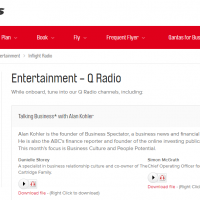 Qantas Radio April 2016